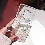 Galaxy Note 9 Glitter Case, Shinymore Bling Planet Space Sparkle Moon Starry Soft Gel Rubber Cover for Samsung Galaxy Note 9- Clear