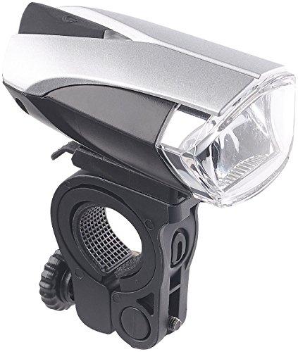 KRYOLiGHTS Fahrradleuchte: LED-Fahrradlampe FL-412 mit Licht-Sensor & Akku, zugelassen n. StVZO (Fahrrad Scheinwerfer)