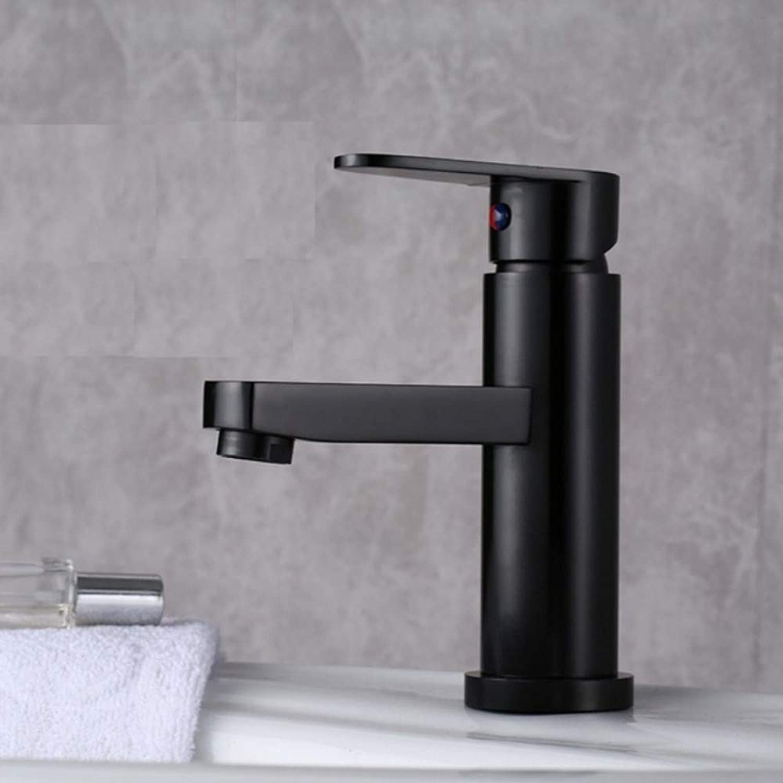 Lddpl Bathroom Faucet Bathroom Washbasin Faucet golden Space Aluminum Basin Faucet Hot Cold Mixer Taps Black gold Faucet