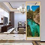 PikaQ - Adhesivo decorativo para ventana, diseño de yates pequeños flotantes en el mar, Mallorca, España, película de vidrio para el baño y la reunión de la casa, 17,7 x 35,4 pulgadas
