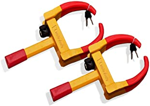 Zento Deals 2 Pack Security Tire Clamp Heavy Duty Anti- Theft Vehicle Wheel Lock