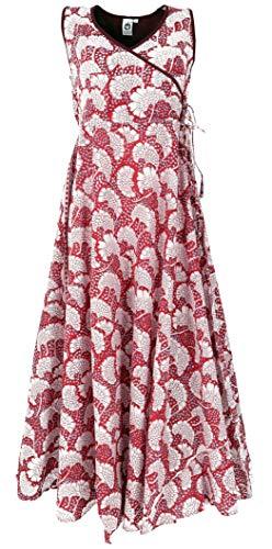 GURU SHOP Maxikleid, Sommerkleid, Damen, Rot, Baumwolle, Size:XL (42), Lange & Midi-Kleider Alternative Bekleidung