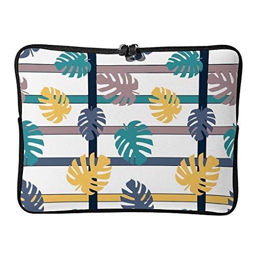 Borsa per computer portatile con foglie di palma, simpatica e multifunzionale, per piante tropicali e tablet