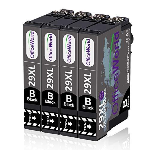 OfficeWorld 29 XL Cartouches d'encre Remplacement pour Epson 29XL Encre Compatible avec Epson Expression Home XP-235 XP-245 XP-247 XP-255 XP-332 XP-335 XP-345 XP-352 XP-355 XP-432 XP-442 XP-445 XP-452