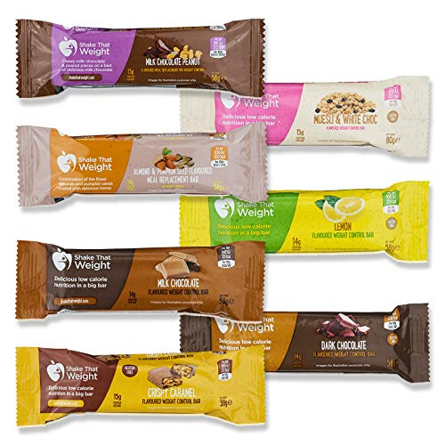 Shake That Weight Meal Replacement Bars - Variety Pack - 7 Bars