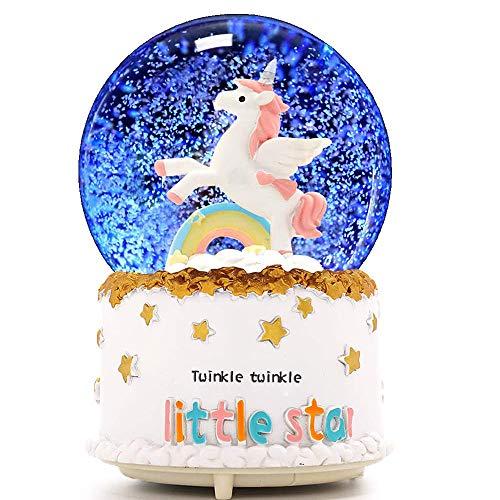Unicorn Snow Globe, VECU 3.14 Inch Unicorn Music Snow Globes with Automatic Snowfull,Perfect Gift...