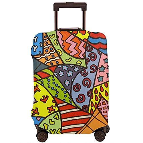 Kinsky Day Romero Britto - Protector de equipaje para proteger tu equipaje del polvo y arañazos, blanco, 95