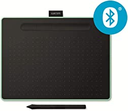 Wacom Intuos M Bluetooth Tableta digitalizadora 2540 216 x 135 mm USB/Bluetooth Negro, Verde - Tableta gráfica (Inalámbrico y alámbrico, 216 x 135 mm, USB/Bluetooth, 7 mm, Pluma, 0,25 mm)