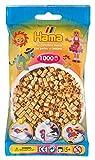 Hama 207-61 - Bügelperlen im Beutel, ca. 1000 Stück, gold