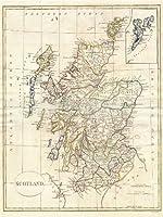 【地図】1799年 クレメント・クルットウェル社発行 スコットランドの地図 アートプリントポスター 1799 CLEMENT CRUTTWELL MAP SCOTLAND 2882PYLV