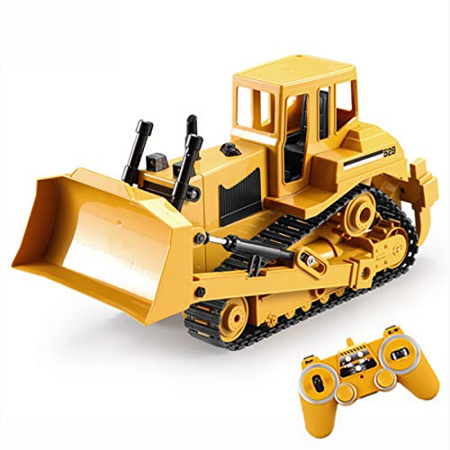 XIAOKEKE Remote Control Toys 1/20 RC Truck Bulldozer Caterpillar Tractor Model Engineering Cars Excavator 2.4Ghz Radio Controlled Car Toy for Boys -  145-288-425