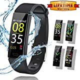Semibre Fitness Tracker Watch, Activity Tracker with Heart Rate Monitor, Smart Watch IP68 Waterproof Color Screen Fitness Watch, Smart Bracelet with Calorie Counter Pedometer Watch for Kids Women Men