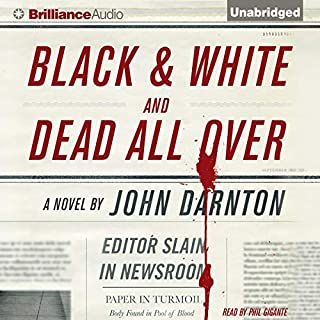 Black and White and Dead All Over audiobook cover art