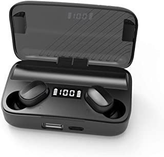 $20 » A9 Bluetooth Earphone,TWS 5.0 Headset Wireless Headphones Water Proof and Sweat Proof Earbuds with 2000mAh Charging Box Noise Cancelling Headset Earphones for iOS Android Smart Phones