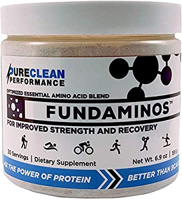 FUNDAMINOS-Vegan EAA/BCAA's, Botanically Boosted, Best-Tasting, Great Value, Nothing Artificial, Physician-Formulated, Clinically-Proven Since 2008 (30 Servings) - PureClean Performance