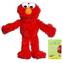 Image: Sesame Street Plush Elmo, 9 Inch, by Playskool