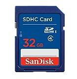 SanDisk Scheda di Memoria SDHC 32 GB, Classe 4 [Imballaggio apertura facile di Amazon]