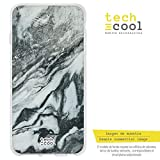 Funnytech Funda Silicona para Xiaomi Mi5S Plus [Gel Silicona Flexible, Diseño Exclusivo] Textura Mármol Gris y Blanco