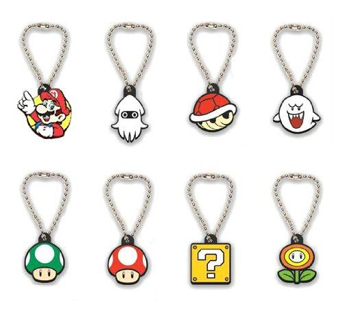 Super Mario Gacha Laser Cut Keychains / Schlüsselanhänger / Ball Chains: Set (8 Anhänger)