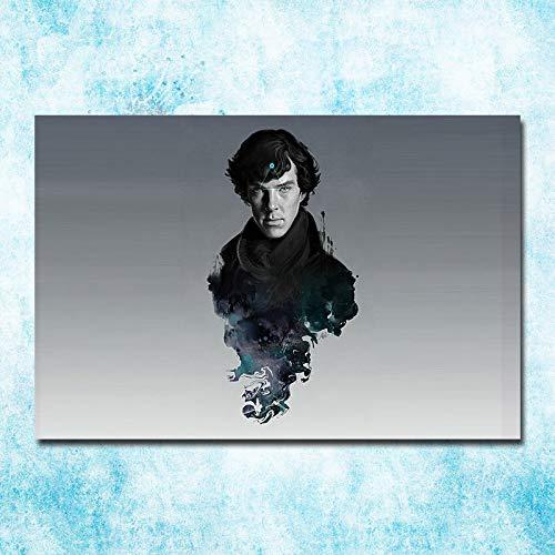 H/M Sherlock 1 ° Al 4 ° Cartel De Lienzo Artístico Abstracto Pintura Al Óleo Digital DIY Arte Decorativo Mural Sala De Estar Decoración del Dormitorio (Sin Marco) 40X60Cm 4255Q