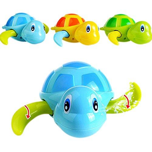 Liamostee Zwembadpads, 3 stuks, wind-up babyspeelgoed, zwemmen, badkuip, leuke schildpad voor kinderen, jongens en meisjes