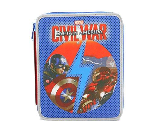 Maxi Trousse Scolaire Seven 2 Zip Captain America Civil War