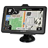 Car GPS Navigation, 7-inch 8 GB high-Definition Touch Screen, Real Voice Broadcast in More Than 40 Languages, Voice Navigation and Free Lifetime map Updates