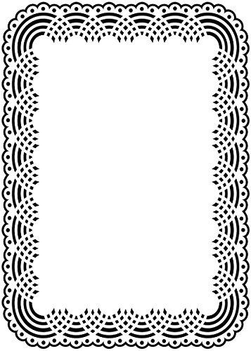 Darice stempelsjabloon, tafelkleed, plastic, transparant, 12,7 x 17,8 x 0,4 cm