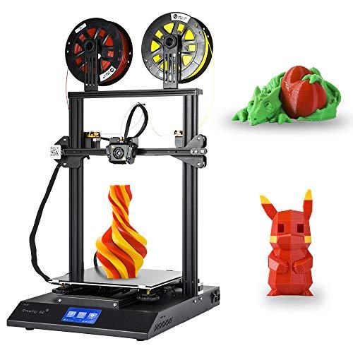 Creality 3D Negozio diretto Stampante 3D Versione Aggiornata CR-X, Stampa a Doppio Colore con Touch Screen 4,3 Pollici DIY Kit, Dimensione Massima di Stampa 300 * 300 * 400mm