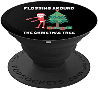 Flossing Around the Christmas tree PopSockets Grip and Stand for Phones and Tablets