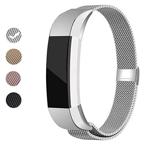 BeYself Compatibile per Fitbit Alta HR/Fitbit Alta Cinturini, Braccialetto in Acciaio Regolabile Ricambio per Fitbit Alta/Alta HR, Uomo Donne Piccolo Grande