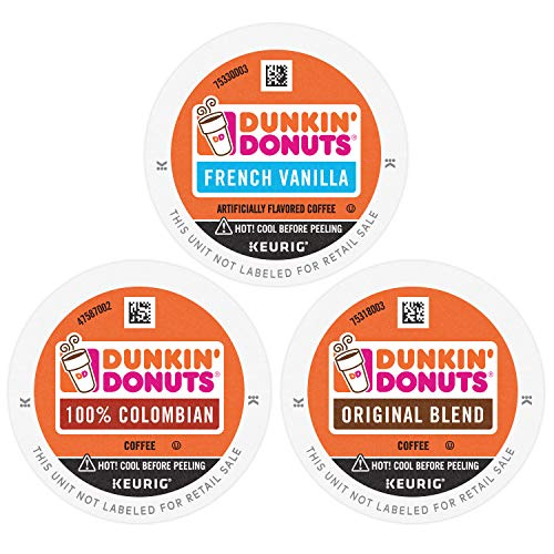 Dunkin' Best Sellers Coffee Variety Pack, 60 K Cups for Keurig Coffee Makers