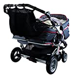 Sunnybaby 850120519 Kinderwagen-Einkaufsnetz für Zwillingswagen mit Sichtschutz, schwarz