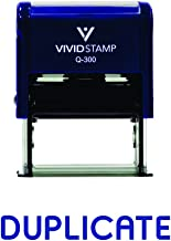 DUPLICATE Self-Inking Office Rubber Stamp (Blue) - Large
