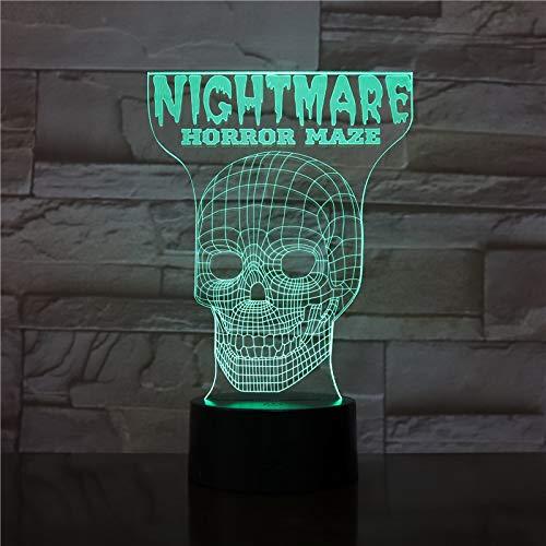 Nur 1 Stück Scary Maze Game 3D-Lampe für Kleinkinder für Bedside Decorative Led Nachtlichtlampe Mehrfarbig Visual für Weihnachten Dekorative