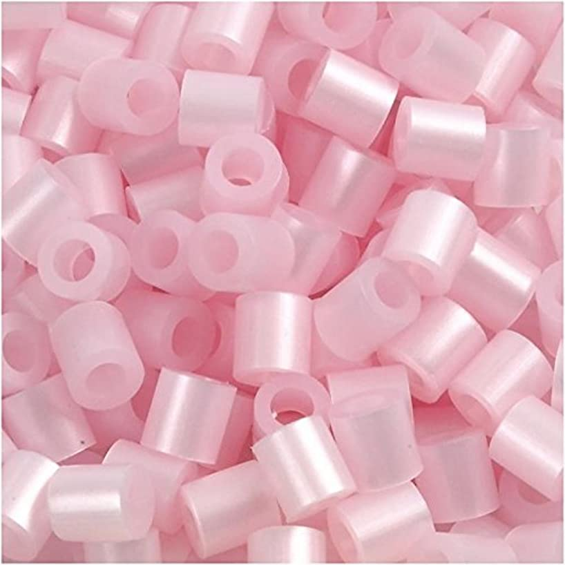 Fuse Beads, 5x5 mm, rose mother-of-pearl, medium, 1100 pc