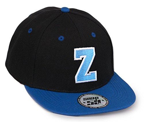 Morefaz Bonnet Chapeau Casquette Snapback 59 Baseball Cap Alphabet letters A-Z Snap Back (Z)