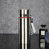 Jusemao Hervidor de agua portátil de acero inoxidable para la oficina de negocios, botella termo de 500 ml 12/plata caliente_500 ml