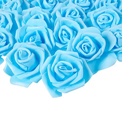 light blue baby decorations - 9