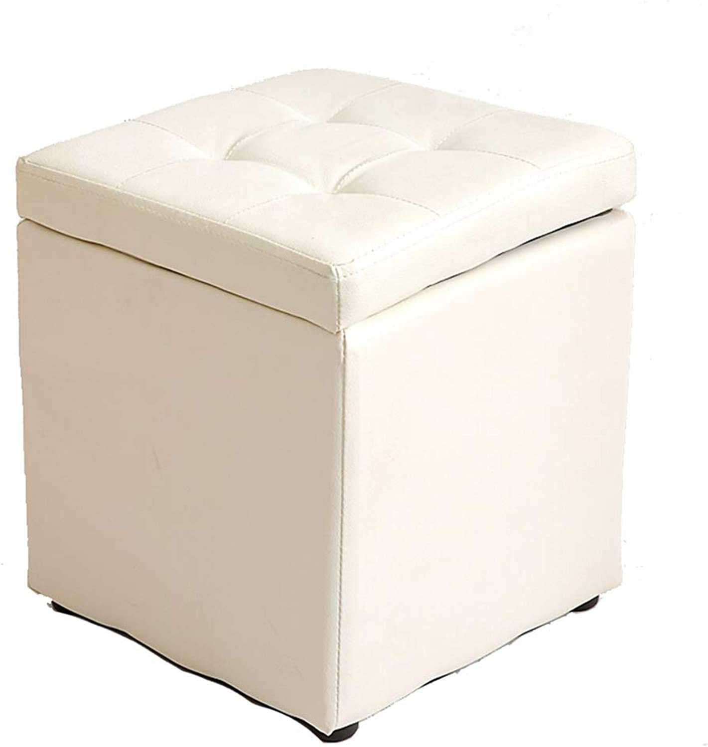 Small Stool-Storage Stool Leather Bench Change shoes Bench Pier Hall Sofa Stool Storage Stool Footstool shoes Bench FENPING (color   K, Size   30  30  35cm)