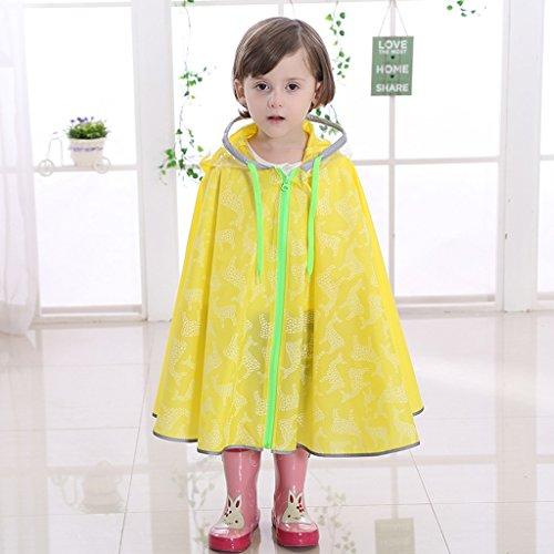 Vestes anti-pluie QFF Child Raincoat Garçons et Filles Raincoat Respiratable Baby Poncho Student (Couleur : Le Jaune, Taille : L)