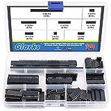 Glarks 120 pz 2,54 mm dritto singola fila PCB Board femmina pin header Socket Connector Strip Assortimento Kit per Arduino Prototype Shield(fila singola)