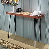 HUANGFINPI Farbe: Braun Ziertische Konsolentisch 90x30x71,5 cm braun