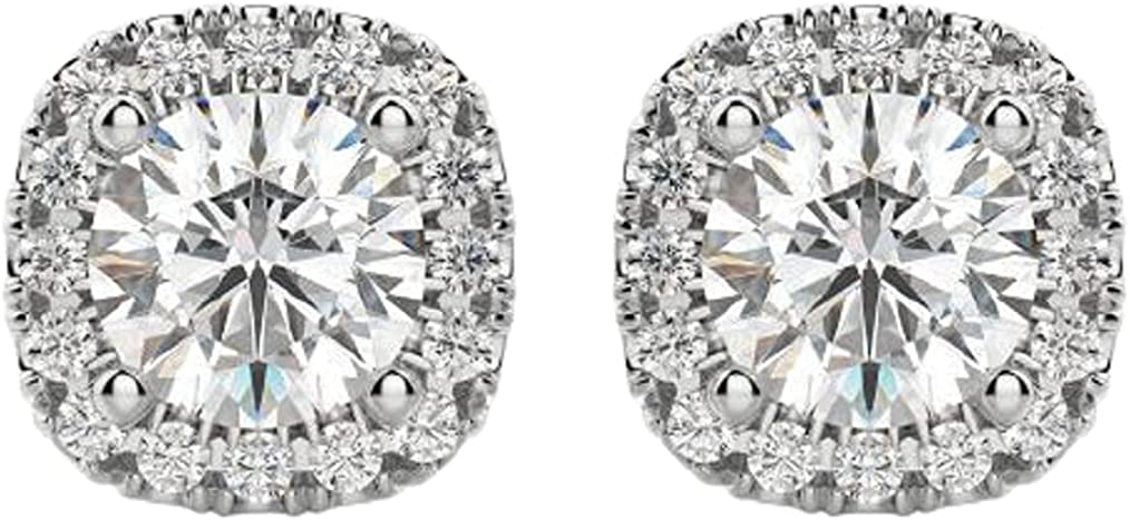 2.50 CT Round Cubic Zirconia Halo Classic Stud Max 80% OFF 14k Earrings Whit Year-end annual account