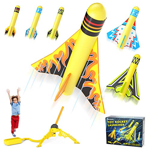 FUNOVA Rocket Launcher for Kids, Stomp Rocket Toy with 3 Foam Rockets and 3...