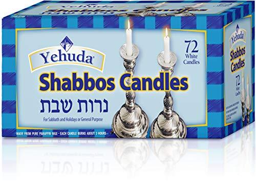 Yehuda Sabbath Candles, White, 72 ct