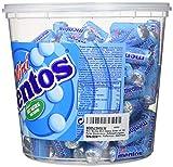 Mini Mentos Mint Classic, Eimer mit 120 Rollen Kaubonbons, Aufbewahrungsbox Minz-Dragees, Pfefferminz-Geschmack - 3