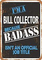 2個 20 * 30CMメタルサイン-BadassBill Collector メタルプレート レトロ アメリカン ブリキ 看板