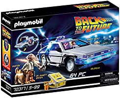 PLAYMOBIL- Back to The Future Delorean con Efectos de Luz, A Partir de 6 Años, Multicolor (70317)