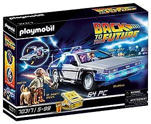 Legendärer Spielspaß für Zeitreisende: PLAYMOBIL Back to the Future DeLorean mit Fluxkompensator und Marty McFly, Dr. Emmett Brown, Einstein Transformierbare DeLorean Zeitmaschine mit aufklappenden Türen, einklappenden Rädern, uvm., Passend zu Marty ...
